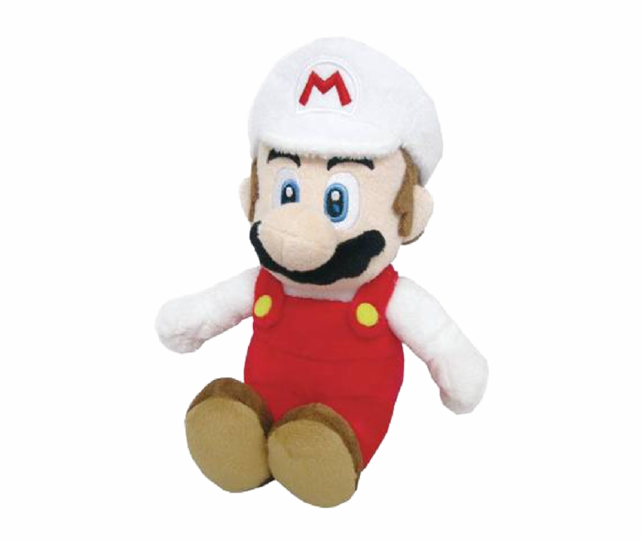 Fire Mario 10 Inch Plush Fire Mario Plush Png Transparent Png