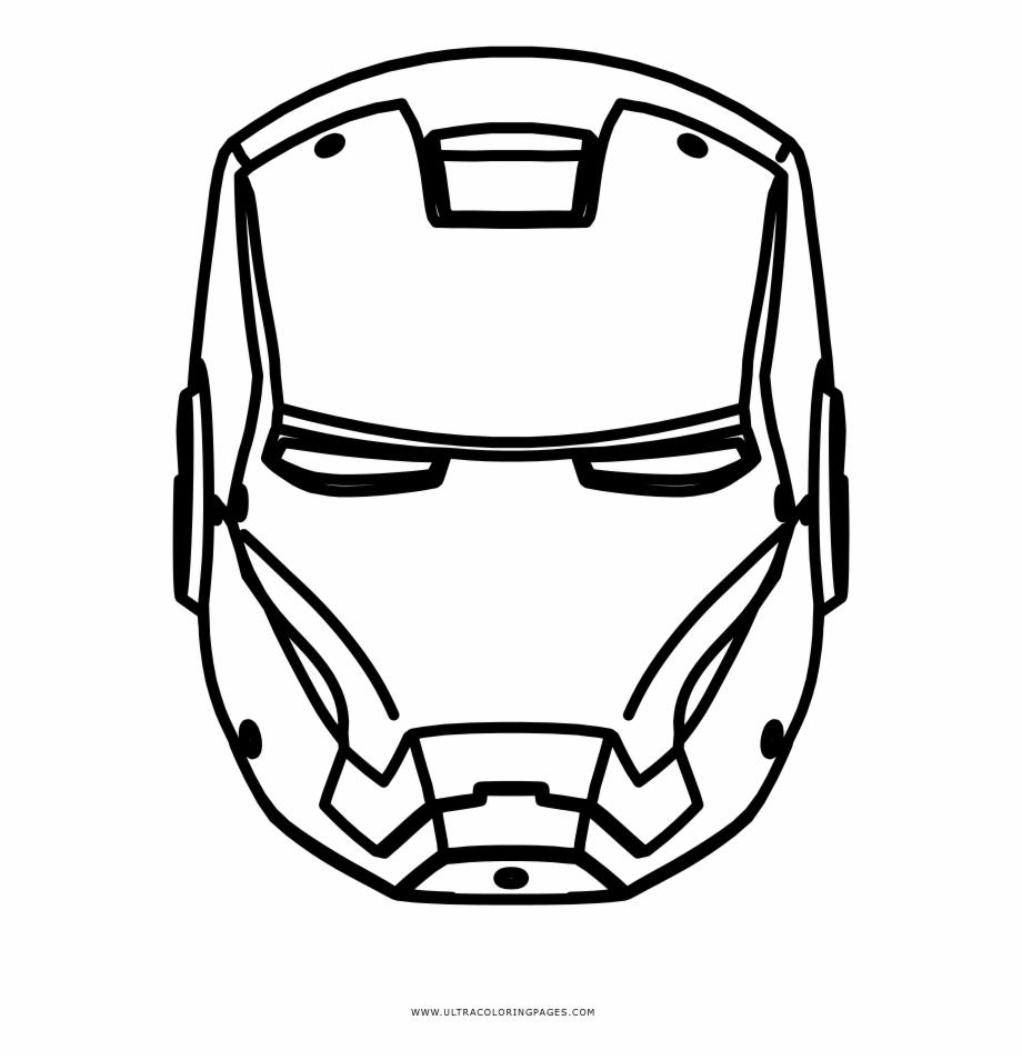 Iron Man Coloring Page Iron Man Png Hitam Putih Transparent Png Download 2279718 Vippng