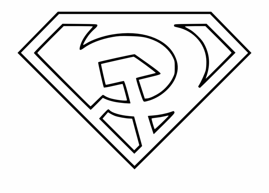 Superman Logo Coloring Pages Comics Pinterest In Red Son Superman Logo Transparent Png Download 2299301 Vippng