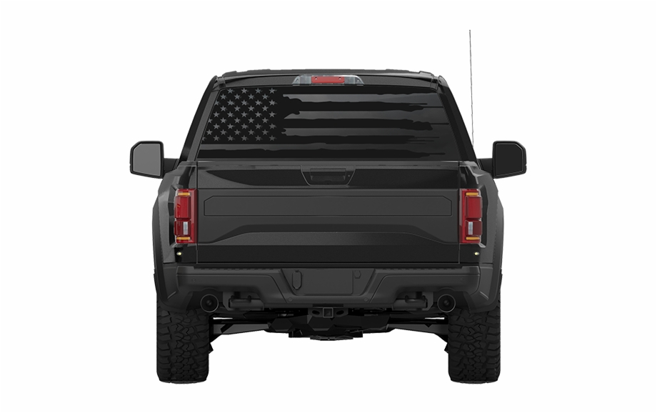 Distressed Black /& White American Flag Rear Window Decals XPLORE OFFROAD