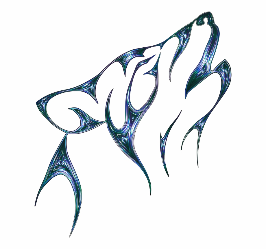 Gray Head Wolf Howl Tattoo Free Frame Wolf Tattoo Transparent Png Download 2320822 Vippng