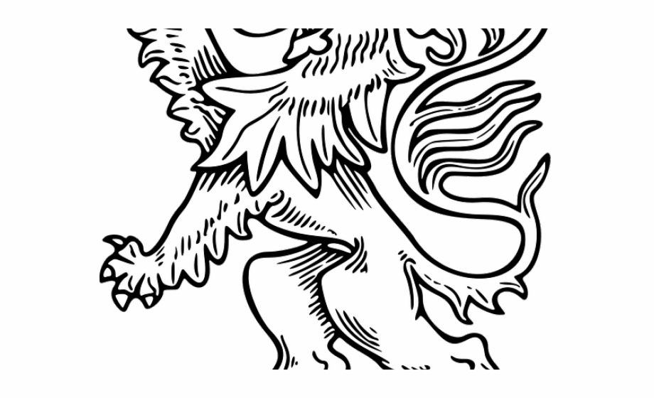 news cartoon net: Cartoon Lion Cub Outline