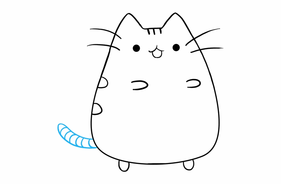 How To Draw Pusheen The Cat Cartoon Cats Easy To Draw