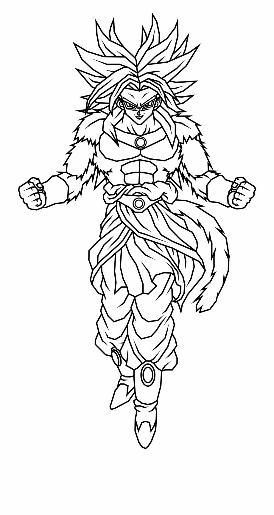 Dragon Ball Z Coloring Pages Broly With 7 Broly Lineart