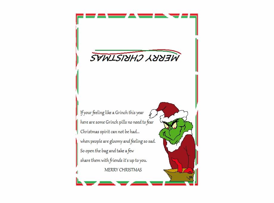 Grinch Poop Poem Printable 202308 Bah Humbug Christmas Poem Transparent Png Download 2378913 Vippng