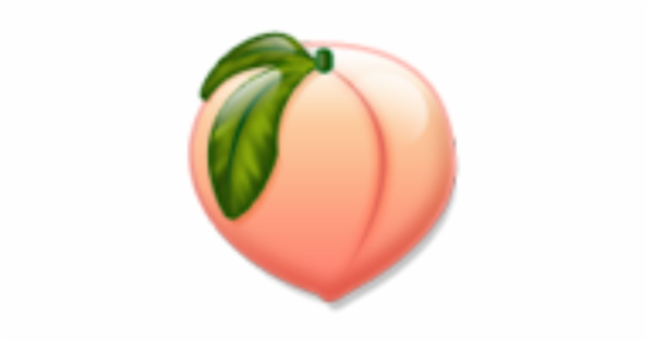 Peach Durazno Emoji Fruit Tumblr Peach Png
