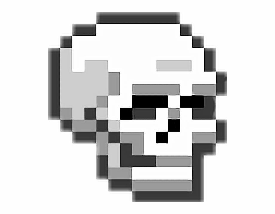 Skull Pixel Snapchat Logo Pixel Art Transparent Png
