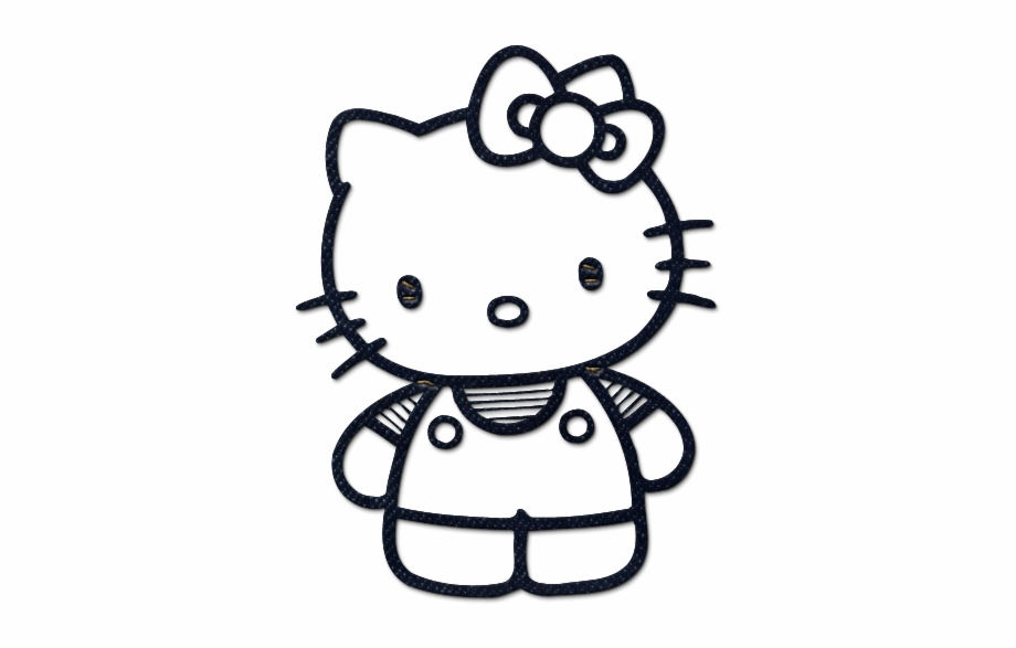 Hello Kitty Icon Style1 Cute Hello Kitty Coloring Pages