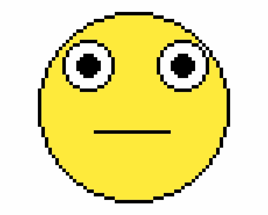 The Confused Face Pixel Art Circle Transparent Png