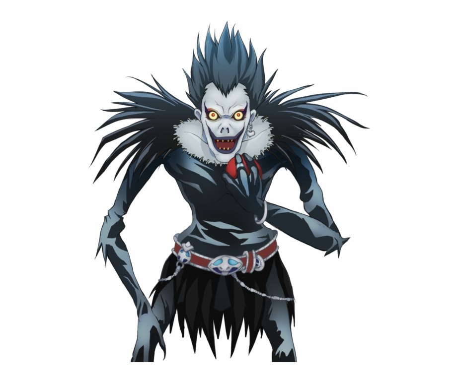 Death Note Ryuk Png Banner Black And White Download Ryuk