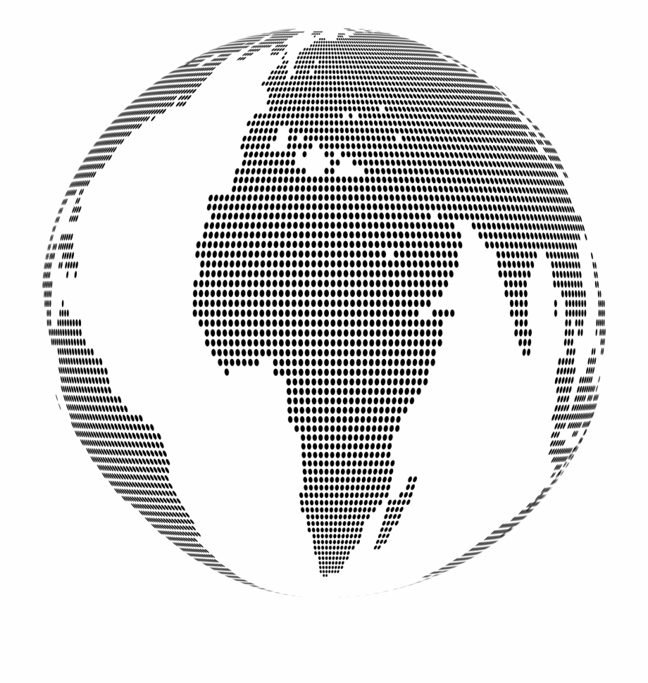 This Free Icons Png Design Of World Map Globe Dots - Dotted ...