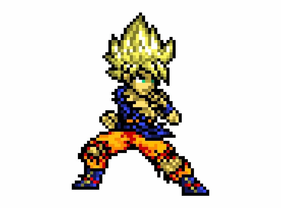 Super Saiyan Goku Ssj Goku Pixel Art Transparent Png