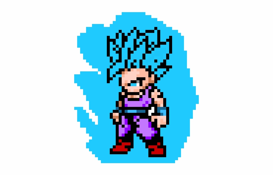 Kid Gohan Pixel Art Dragon Ball Gohan Transparent Png Download