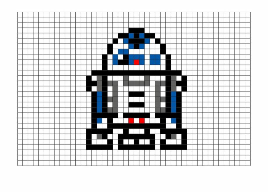 R D Art Pixel Art Star Wars R2d2 Transparent Png