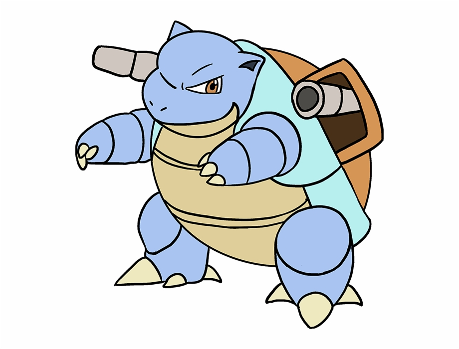 How To Draw Blastoise Easy Pokemon Drawings Blastoise Transparent Png Download 2427173 Vippng