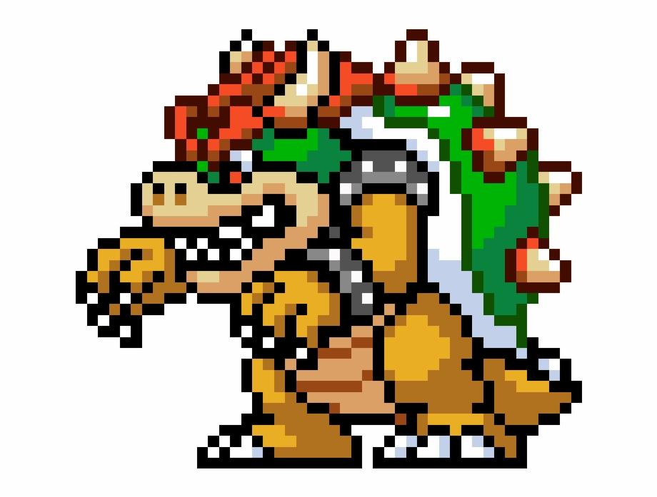 Mario Super Mario World Bowser Pixel Transparent Png Download