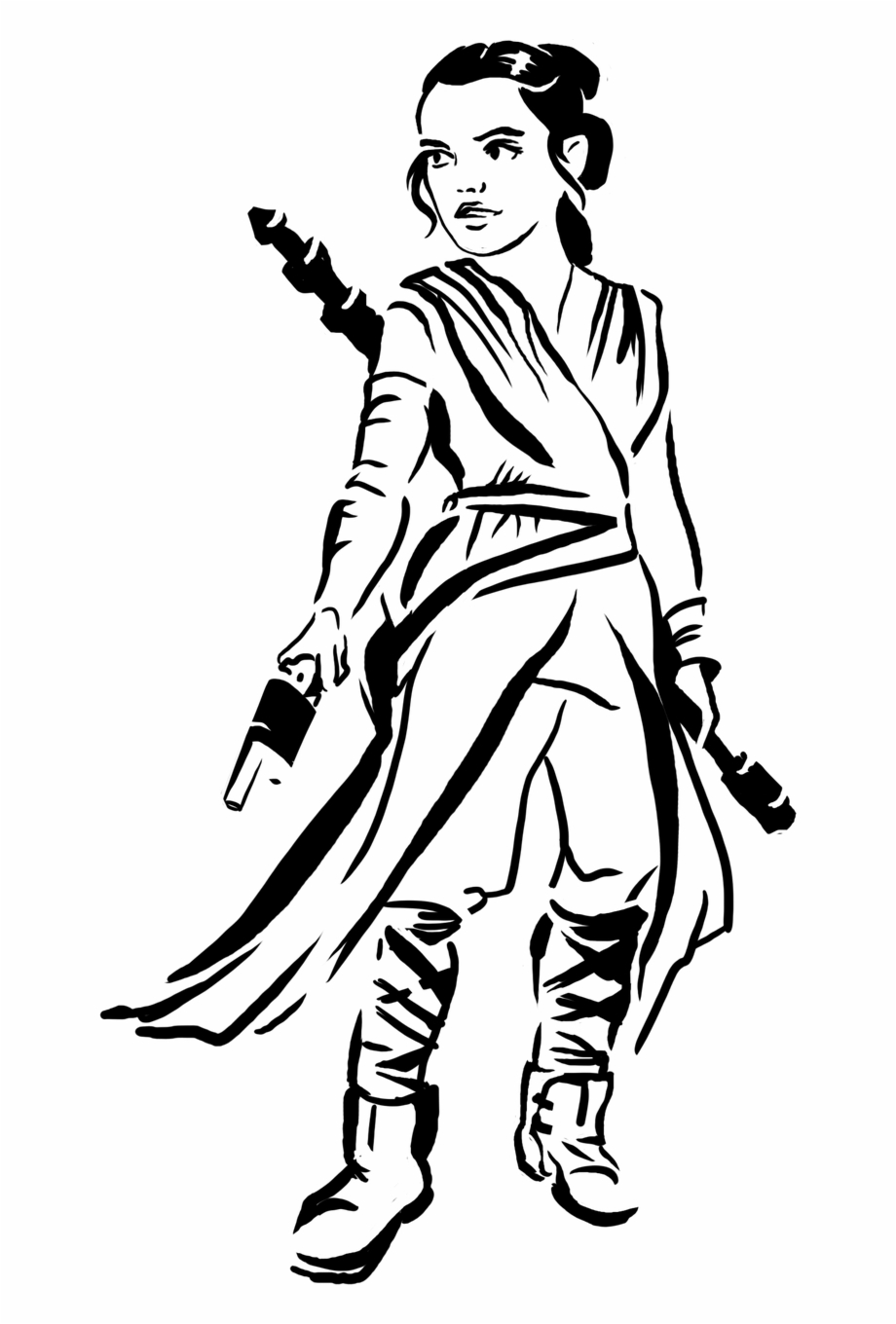 Rey Ray Rae Rey Star Wars Coloring Page