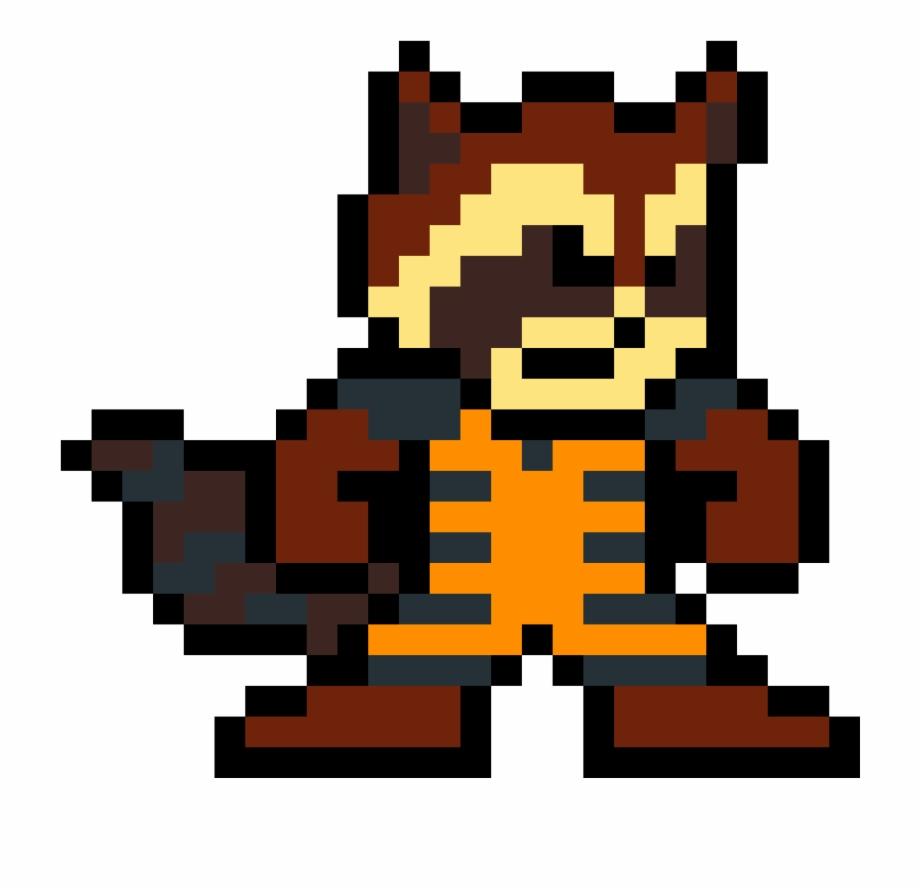 Rocket Raccoon Nick Fury Pixel Art Transparent Png