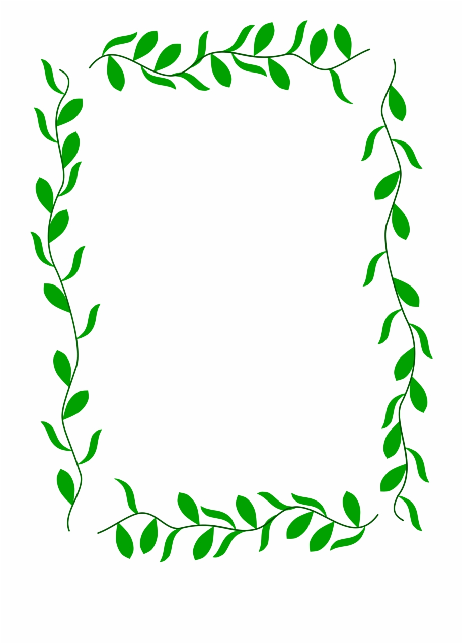 Hand Drawn Green Floral Round Border Design Element, Hand ... |Green Flower Border
