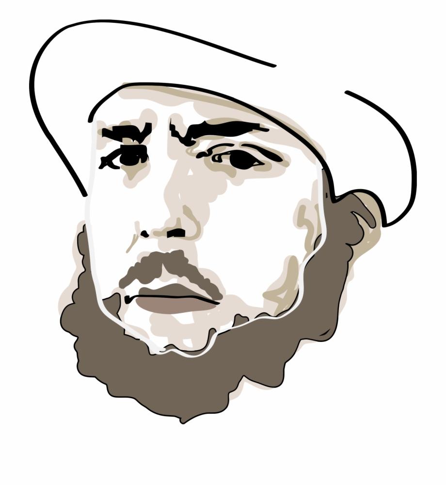 Clip Transparent Library Beard Clipart Man Portrait Dessin Visage Homme Png Transparent Png Download 2541805 Vippng