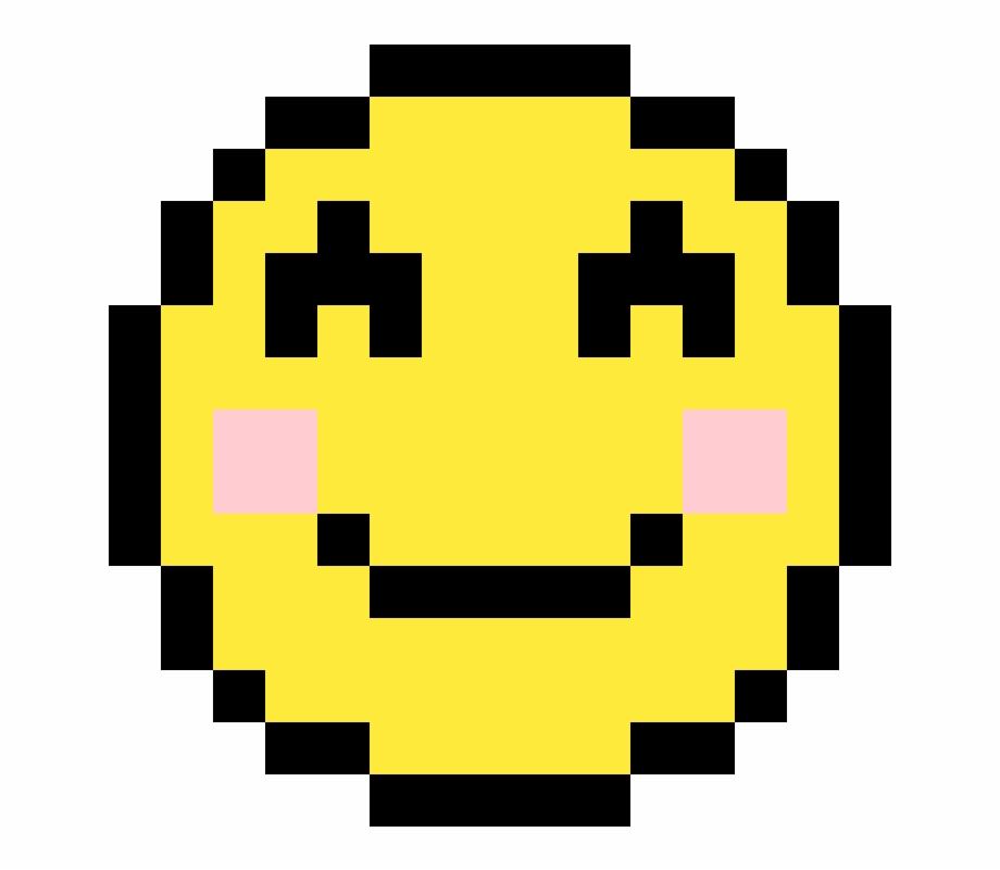 Smiley Face Emoji Emoji Pixel Art Transparent Png