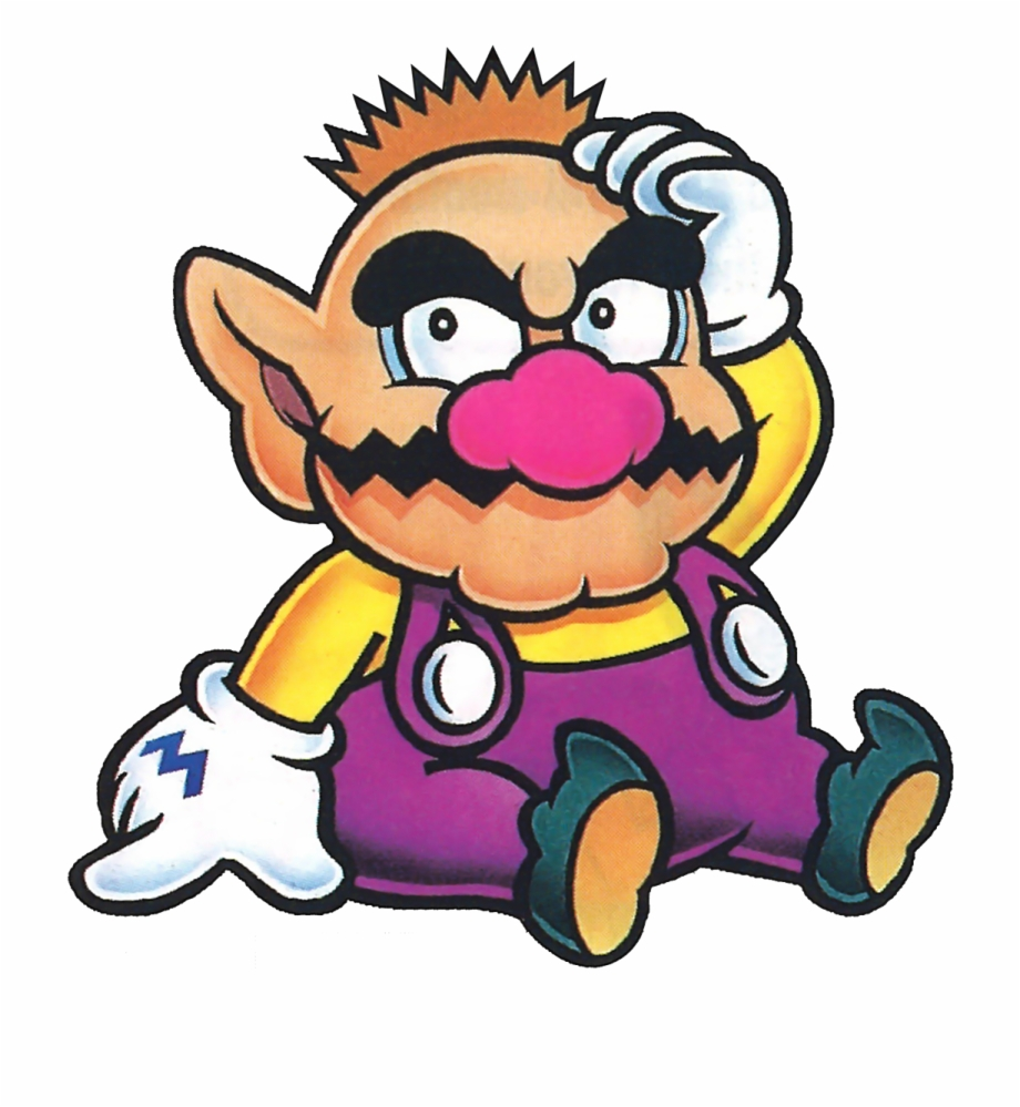 Paper Mario Coloring Pages Photo Wario Bald Transparent Png