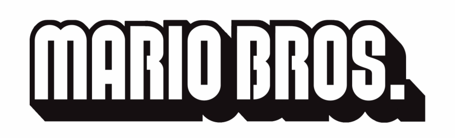 Mario Bros Logo Mario Bros Logo Png Transparent Png Download