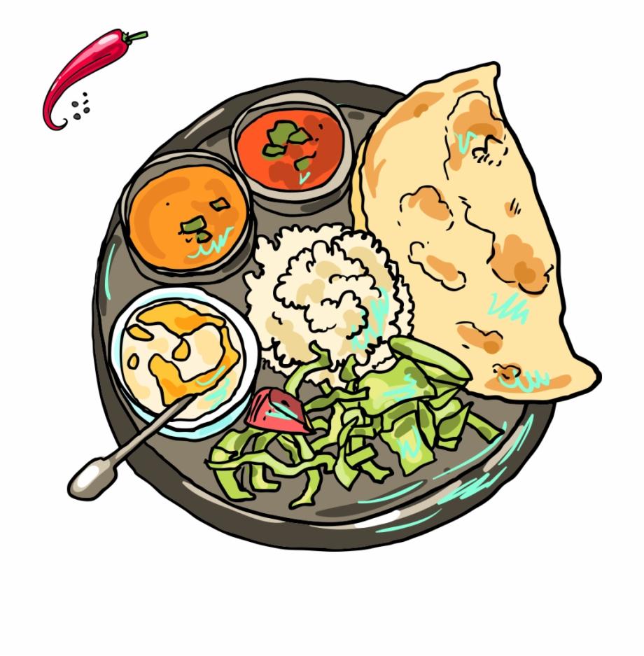 Indian Cuisine Pakora Samosa Rajma Indian Food Cartoon Png Transparent Png Download 261497 Vippng