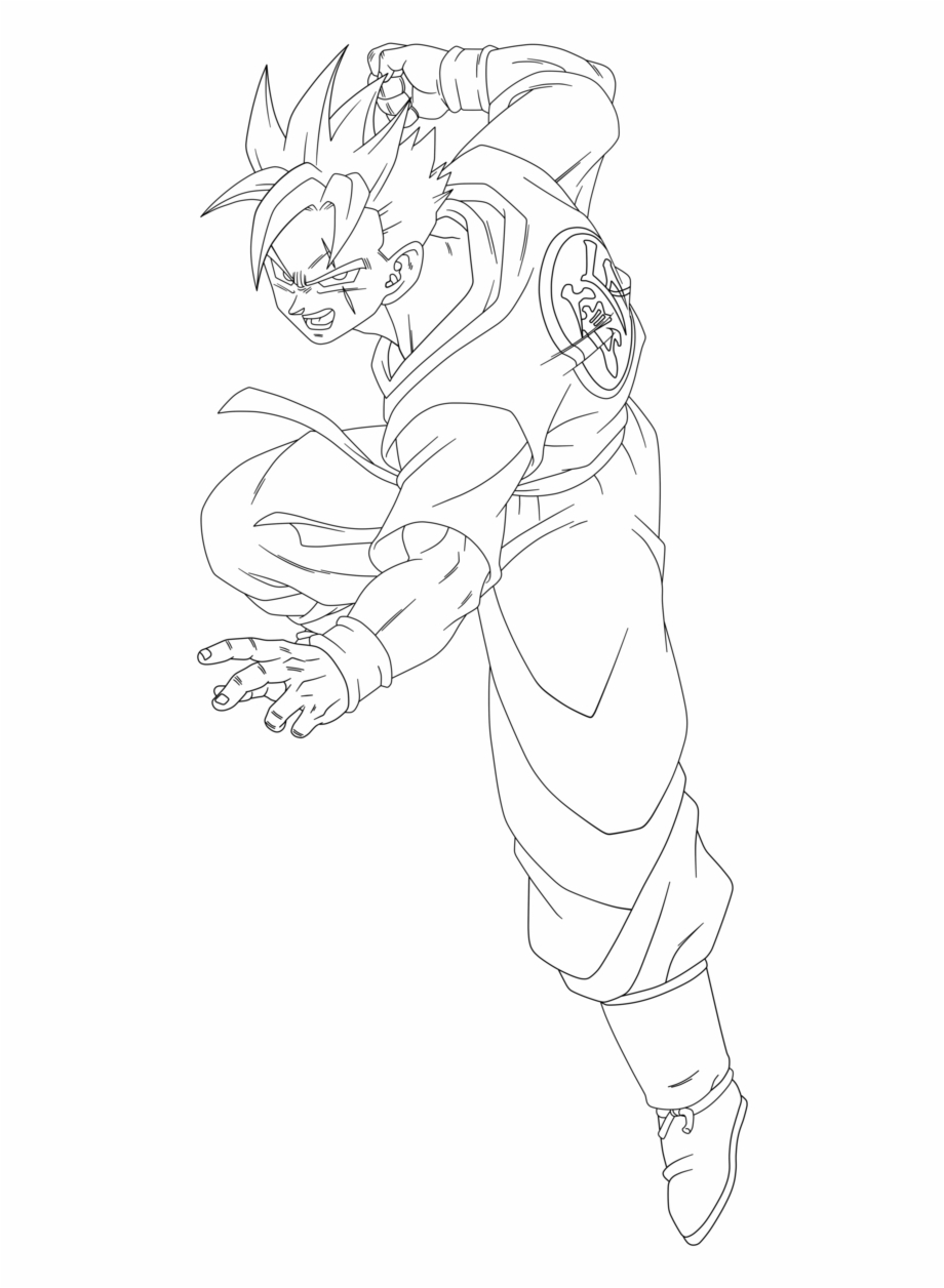 Goten Goku Dragon Ball Coloring Book Super Saiyan, PNG ... | 1256x920