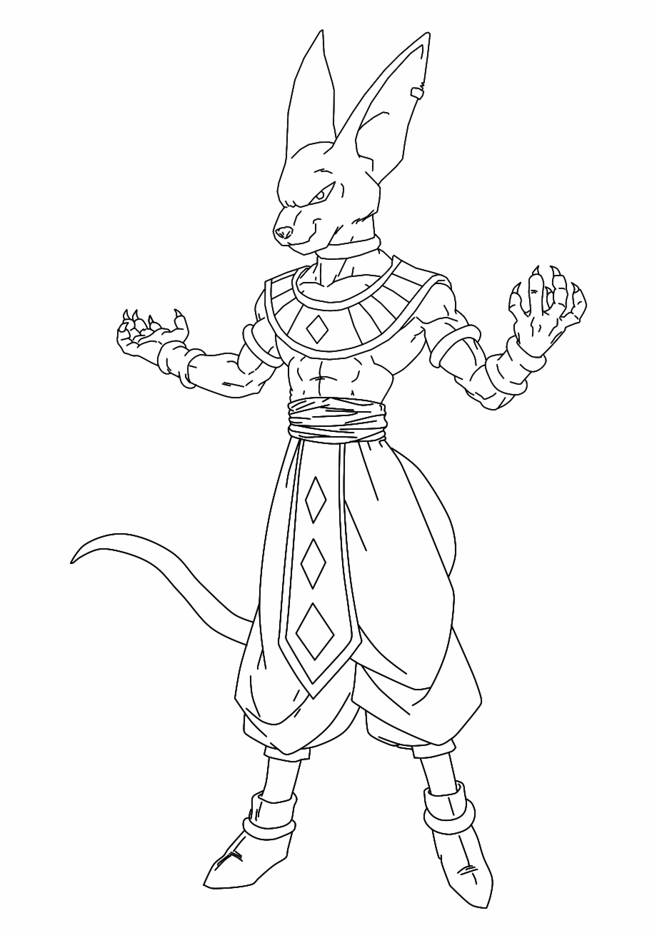 Lord Beerus Coloring Pages 2 By Jerry Facile Sangoku Dbz