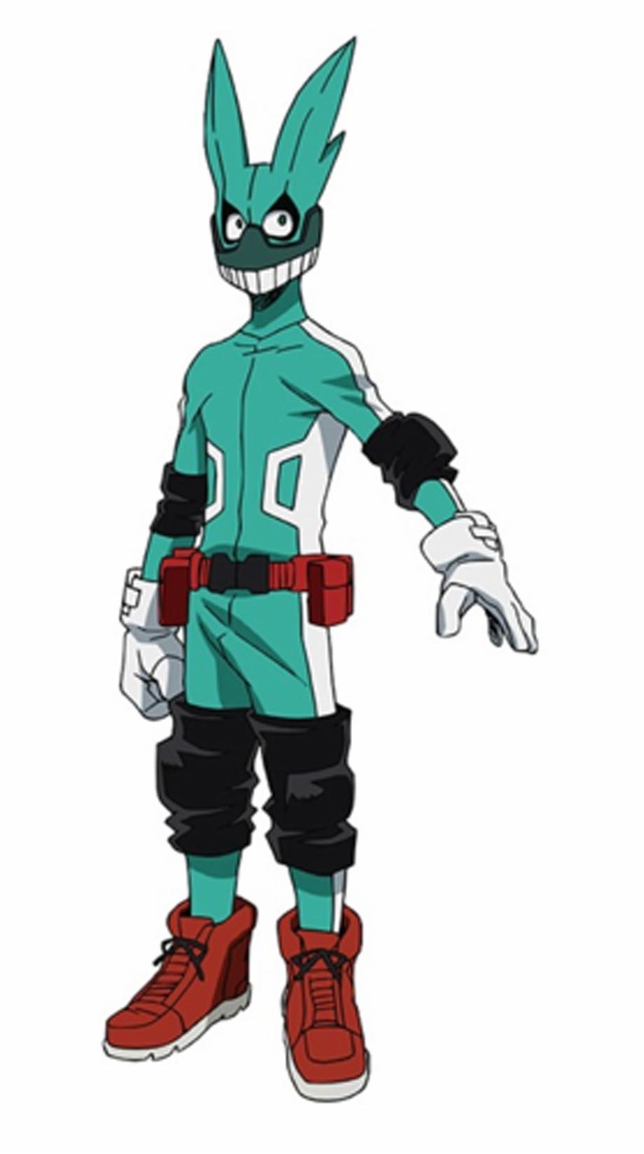 Izuku Midoriya Deku Mha Deku Hero Costume Transparent