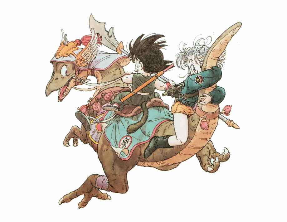 Goku And Bulma Akira Toriyama Original Artwork Transparent Png Download 2659097 Vippng