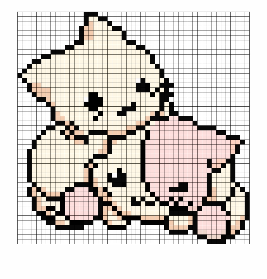 Grid Pixel Art Cat Transparent Png Download 2669538 Vippng