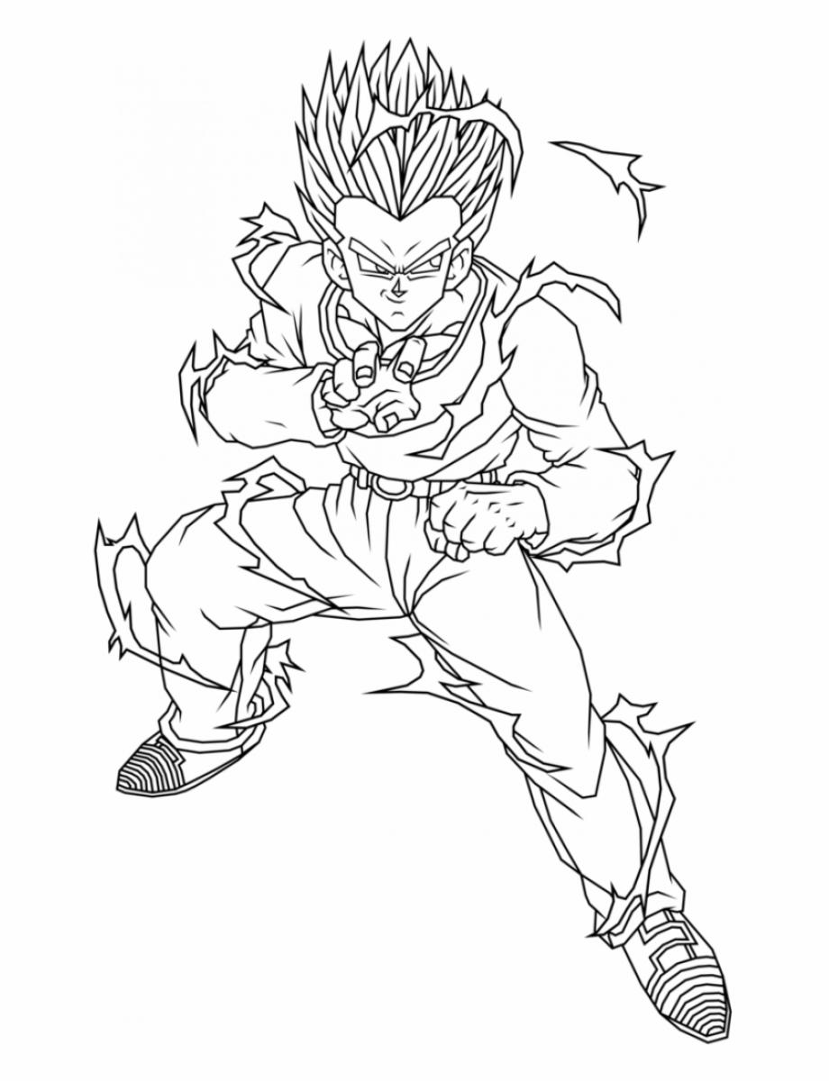 Dragon Ball Z Yamcha Coloring Pages Dragon Ball Z Gohan
