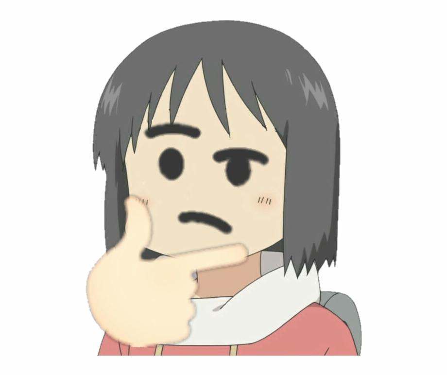 Nanothink Discord Emoji - Anime Thinking Emoji | Transparent