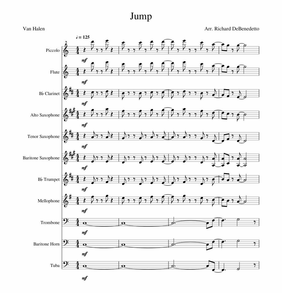 Jump Van Halen Instant Concert Sheet Music Pdf Transparent Png Download 2737407 Vippng
