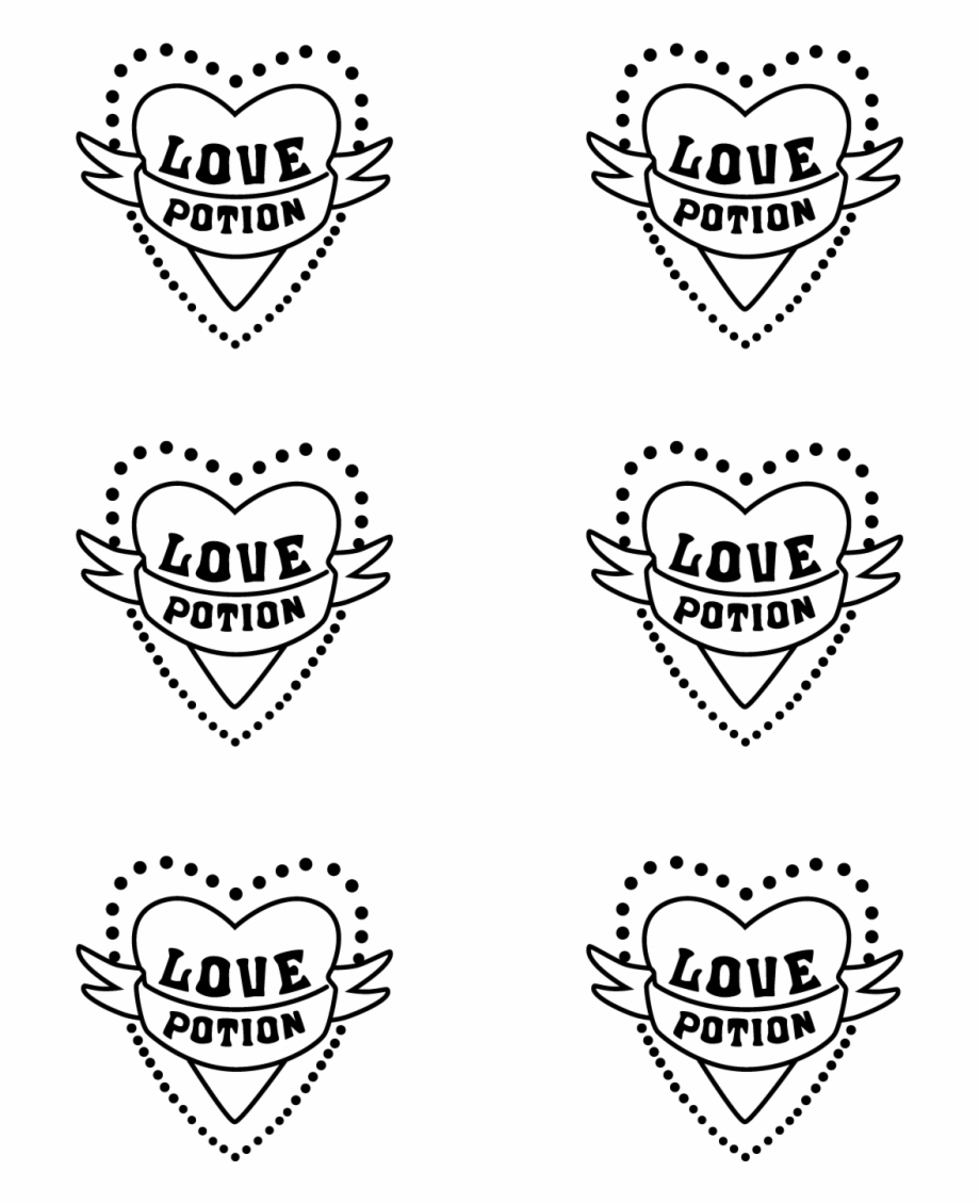 Harry Potter Love Potion Template Love Potion Harry Potter Print Transparent Png Download 2751764 Vippng