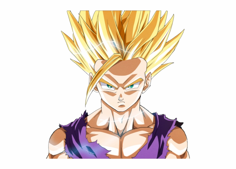 Spoiler Image Gohan Ssj2 Render Transparent Png Download