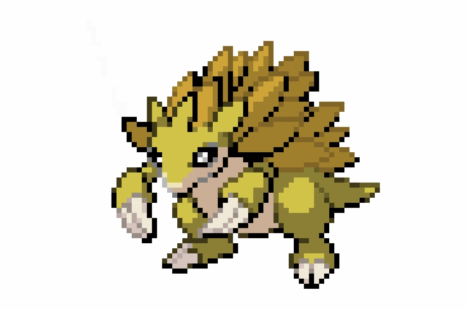 Sandslash Pixel Art Pokemon Sandslash Transparent Png
