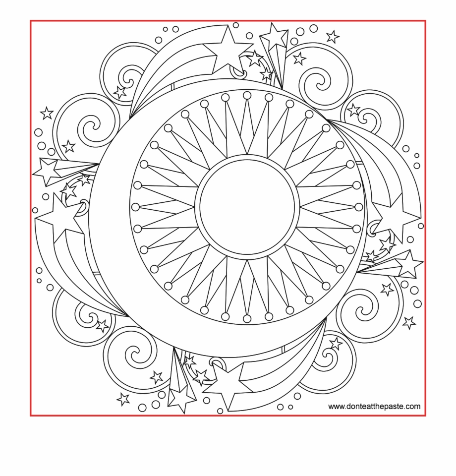 Free Printable Mandala Coloring Pages Large Transparent