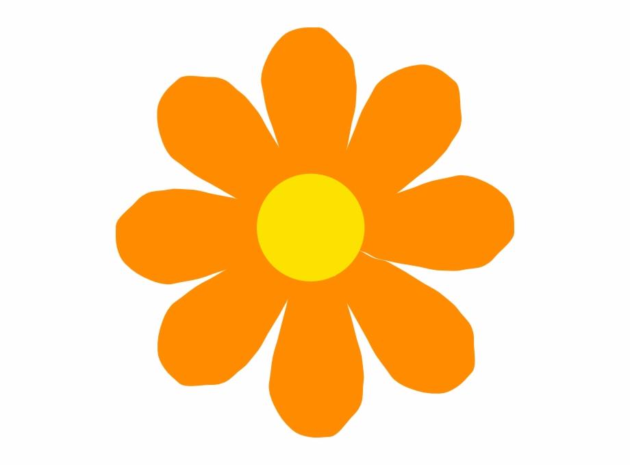 Orange Flower Png Orange Spring Flower Clipart Transparent Png Download 2856133 Vippng