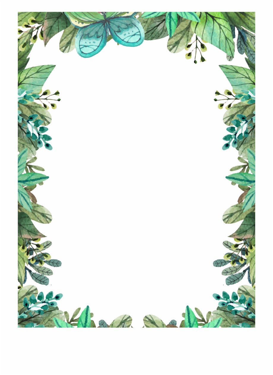 Watercolor Plant Summer Painted Rides Hand Talakag Watercolor Leaves Border Png Transparent Png Download 2956275 Vippng