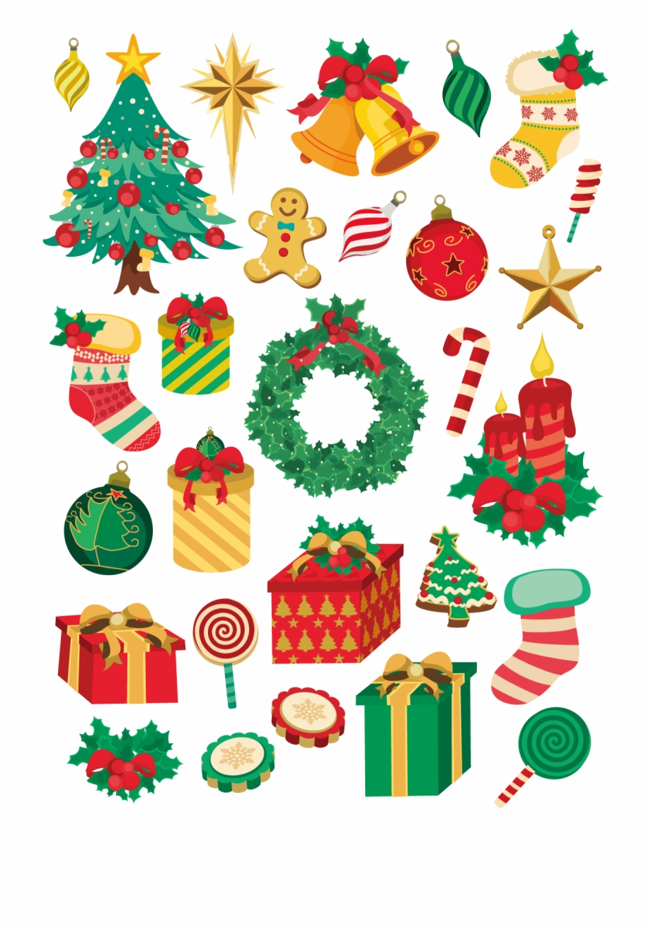 Decor Vector Holiday Christmas Element Vector Transparent Png Download 30058 Vippng