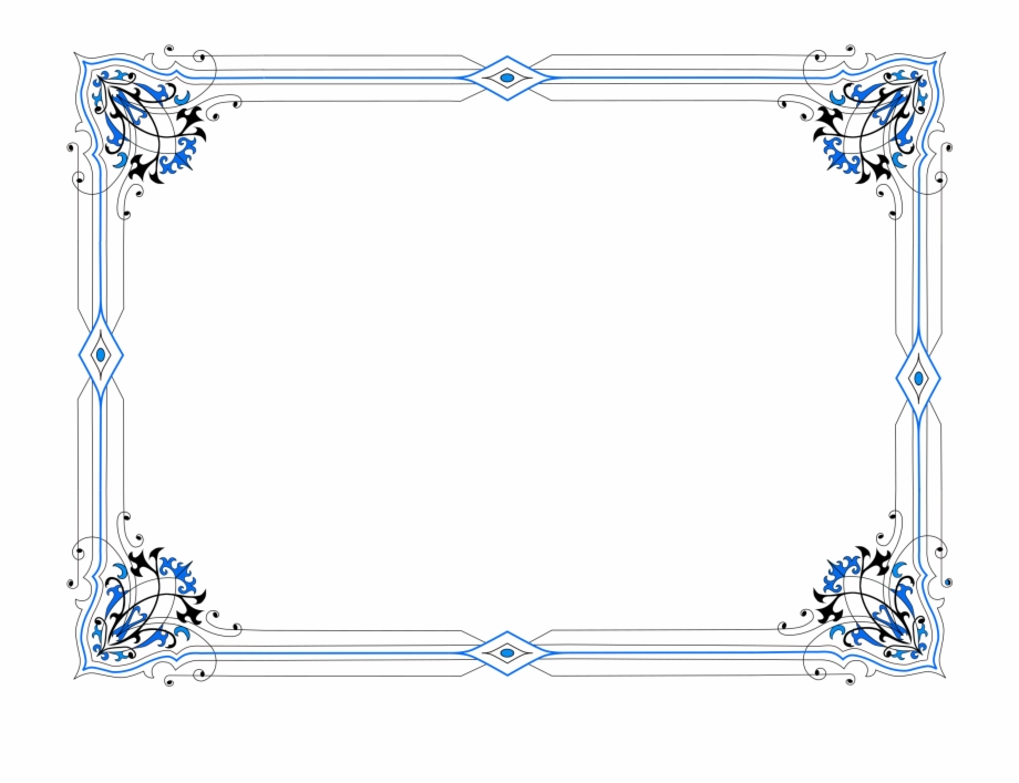 Simple Border Lines Design Png