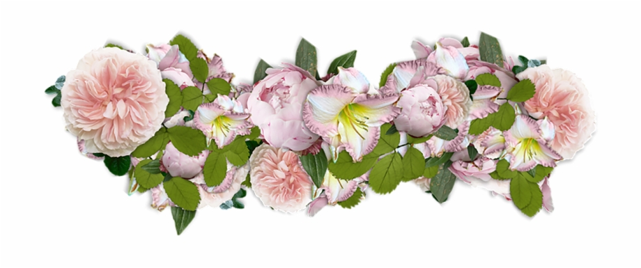 Flowers Decoration Line Of Bunga Bunga Png Transparent Png