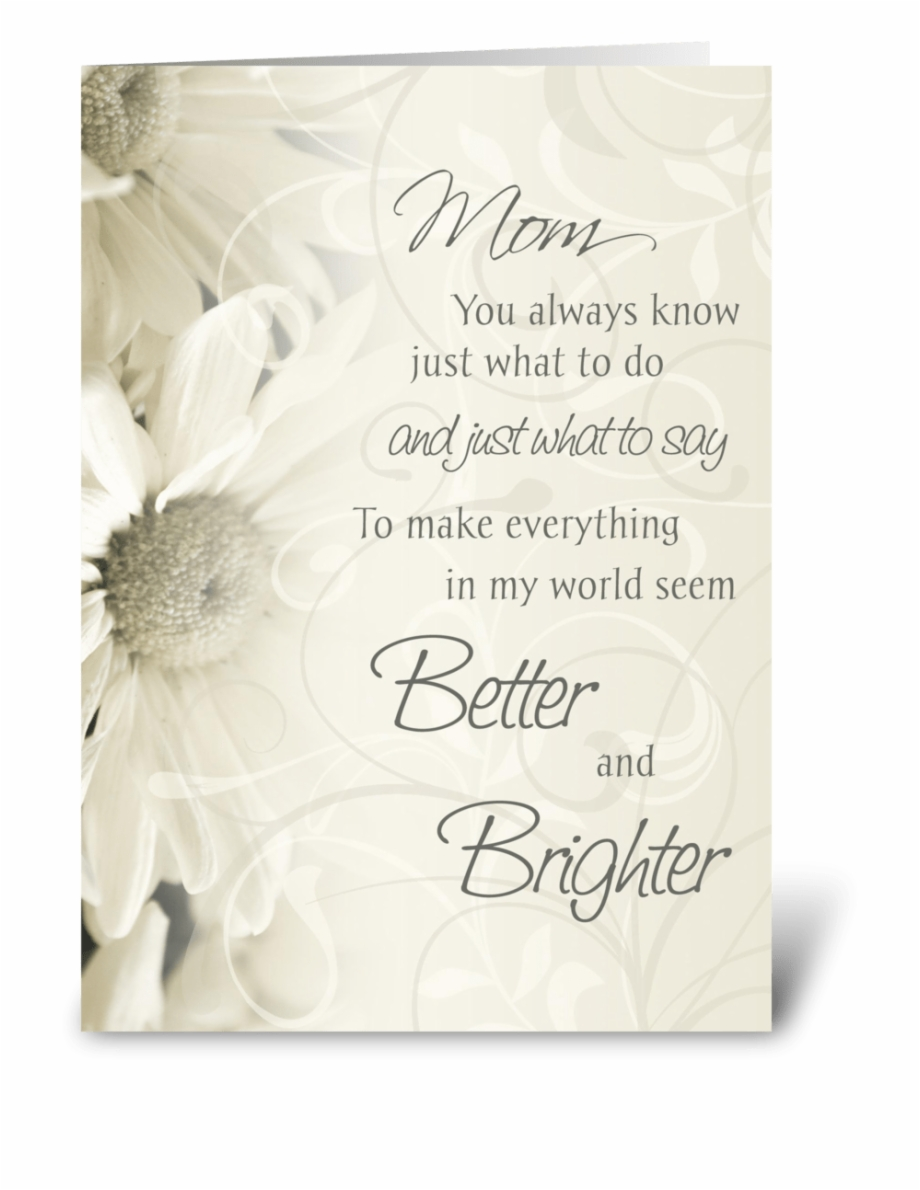 Happy Birthday Mom White Flowers Happy Wedding Anniversary Cards Transparent Png Download 3036086 Vippng