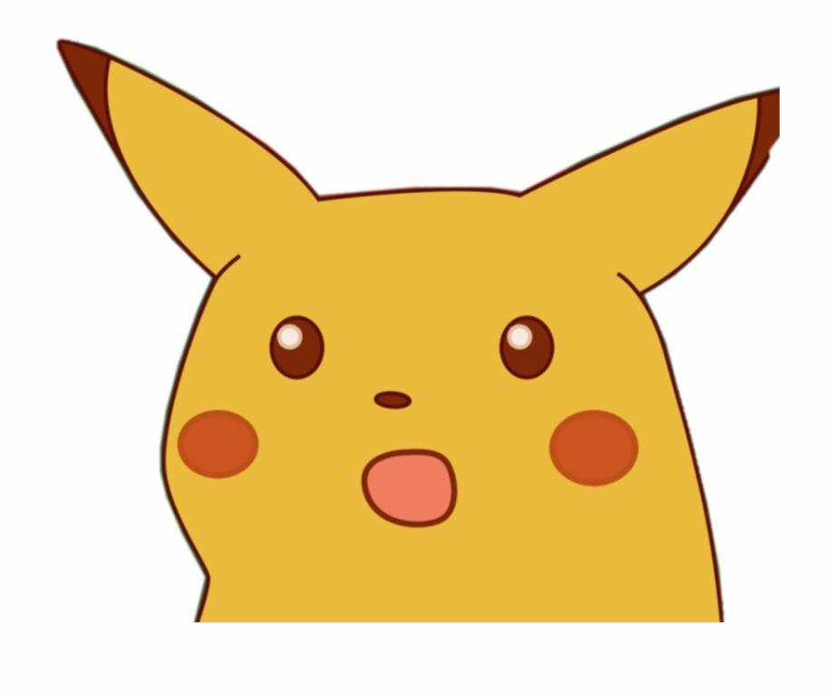 pika png - Pika Sticker - Surprised Pikachu Meme Png ...