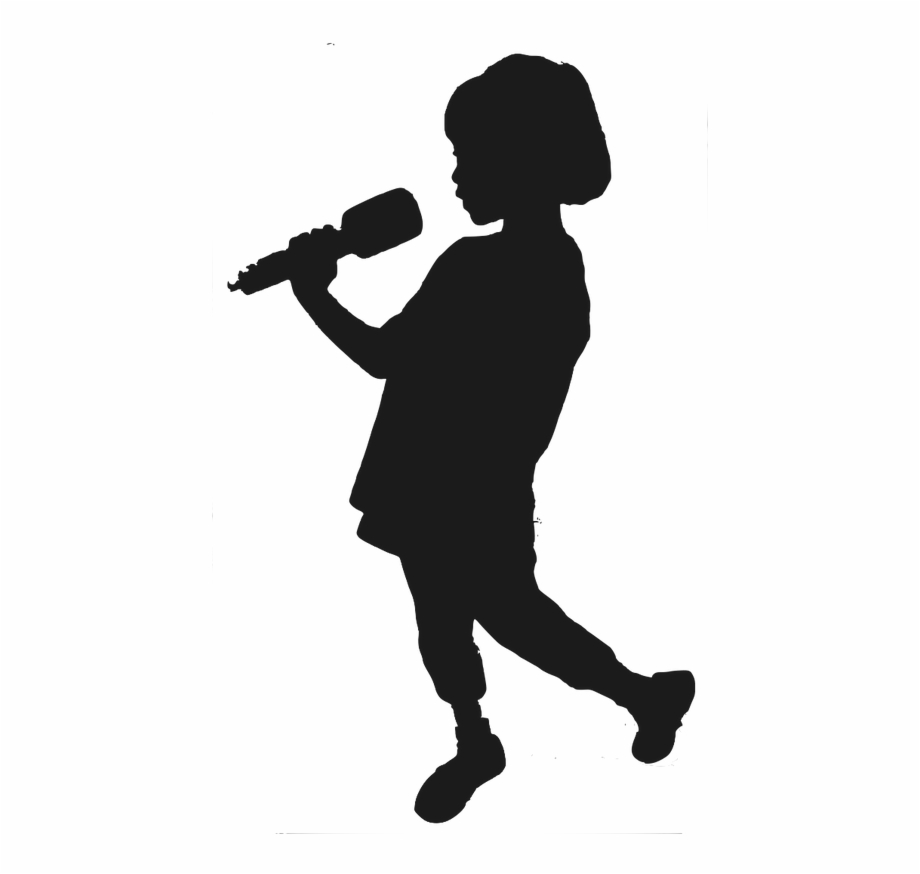 Singer Vector Singing Boy Girl Guitar Player Silhouette Transparent Png Download 3081023 Vippng
