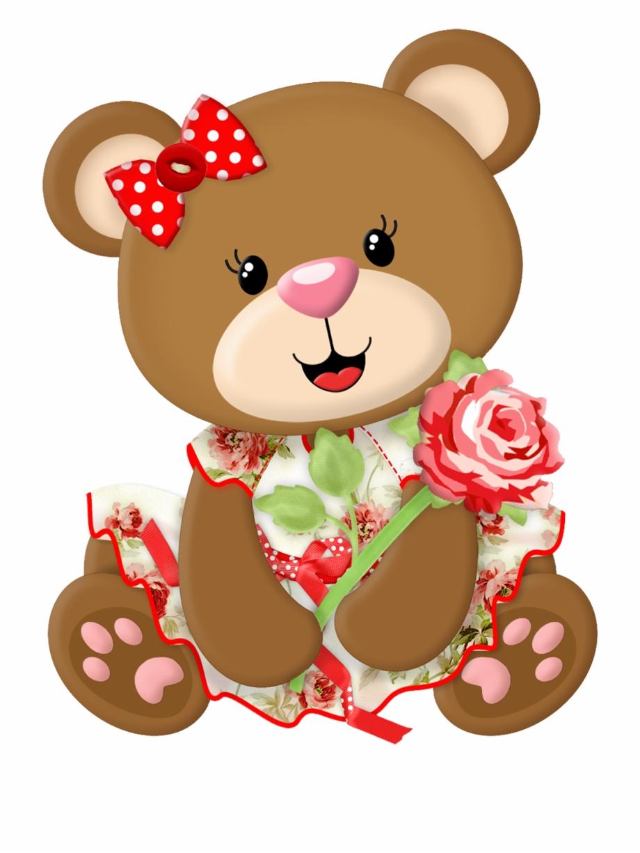 Teddy Bear Holding Heart Clipart Desenhos Coloridos Para