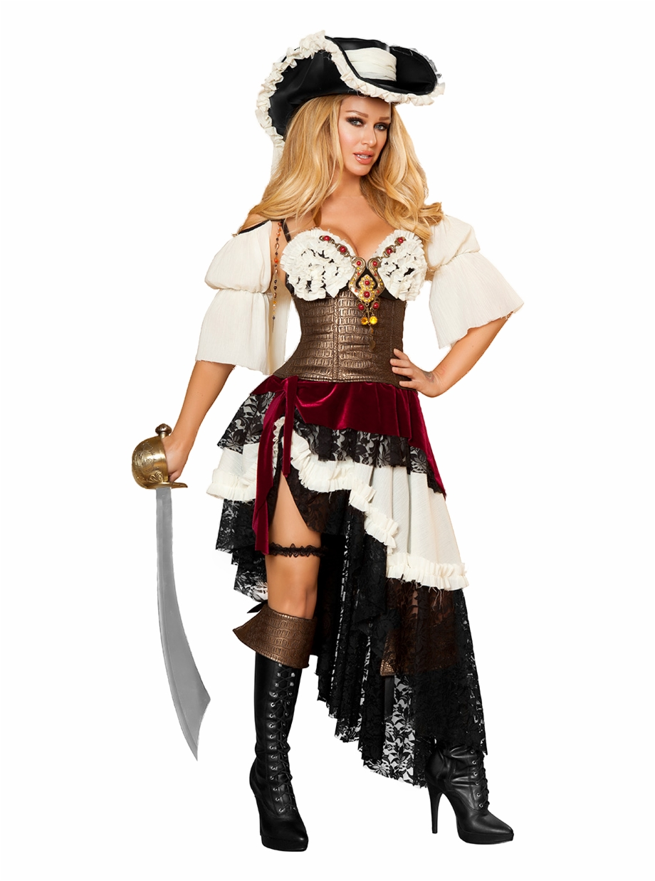 Hot Red Sexy Pirate Costume Women Adult Cosplay Halloween Pirate Best Party Supply
